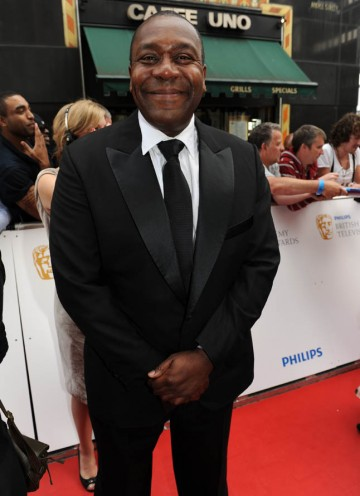 Comedian Lenny Henry arrives to present the Academy Fellowship to industry legend, Melvyn Bragg (BAFTA/Richard Kendal).