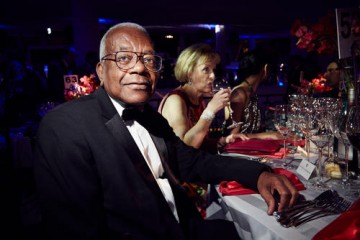 Trevor McDonald sits down to dinner