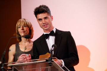Kate Dickie and Sam Robertson