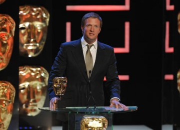 Actor Rupert Penry-Jones, who plays Adam Carter in MI5 drama Spooks, presented the award in the Features category (BAFTA / Marc Hoberman).