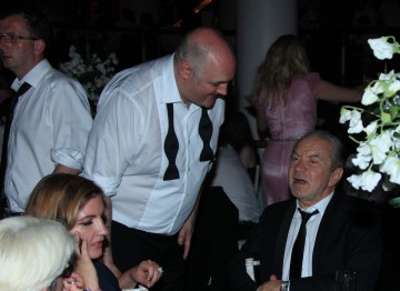 Dara O'Briain and Lord Alan Sugar have a chat at the Television Awards After Party.