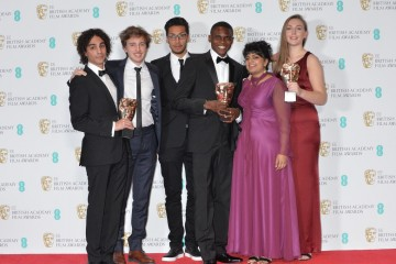 The team behind A Love Story, winner of the British Short Animation Award.