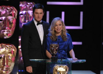 Spooks actor Richard Armitage and Sarah Alexander, star of All the Small Things and Mutual Friends, presented the Comedy Performance award (BAFTA / Marc Hoberman).