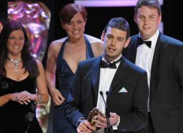 Alex Hryniewicz, Dan Jones, Steph Harris and Adam Gee collected the Interactivity BAFTA for the website behind Channel 4's Embarrassing Bodies series (BAFTA / Marc Hoberman).