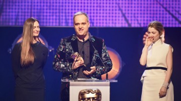 Virry collects the BAFTA for Interactive: Original at the British Academy Children's Awards in 2015