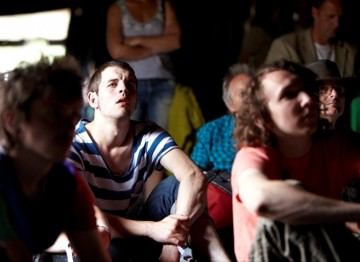 The Film arena audience watching BAFTA shorts screenings including '14' and 'Jade'