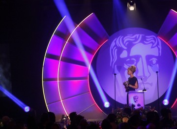 The star of Channel 4 documentary, Katie: My Beautiful Face presents the Break-Through Talent Award in recognition of talent displayed in any part of the behind-the-camera production process. (Pic: BAFTA/Jamie Simonds)