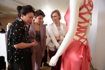 Guests enjoy the Swarovski costume showcase