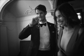 Matt Smith and Emilia Clarke enjoying the J. Kings Smoking Room at London's Royal Opera House