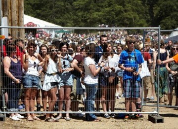 July 18: Fans at the backstage gate hoping to meet The Inbetweeners cast (Picture: Jonathan Birch)