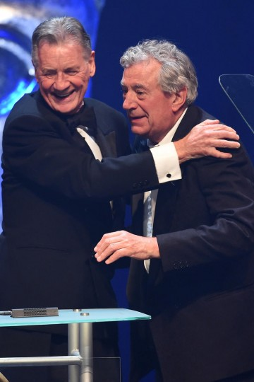 Michael Palin presents his friend Terry Jones with the Special Award