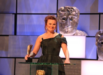 The actress collects a BAFTA for her memorable portrayal of Rose West in Appropriate Adult.
