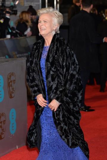 Multi BAFTA award winner Julie Walters arrives on the red carpet