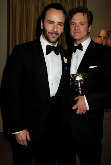 A Single Man director Tom Ford with Leading Actor winner Colin Firth at the Official Soho House and Grey Goose party for the Orange British Academy Film Awards.