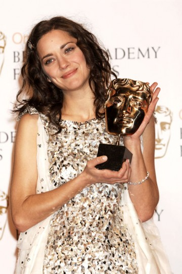 The Actress BAFTA went to Marion Cotillard, for her performance as Edith Piaf in La Vie En Rose. (pic: BAFTA / Richard Kendal)
