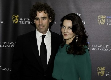Presenter of the British Academy Television Craft Awards Stephen Mangan arrives at the party with his guest. (Pic: BAFTA/Alexandra Thompson)
