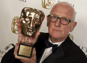 John Hefin with his Special Award for Outstanding Contribution to Television Drama