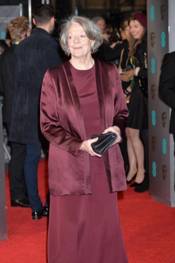 Dame Maggie Smith, nominated for Leading Actress in The Lady In The Van