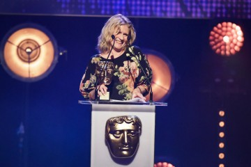 Jocelyn Stevenson collects the Special Award in 2015