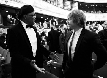 Samuel L Jackson and Rupert Grint at the 2011 Film Awards