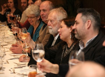 The guests toast Tessa Ross, who will receive her award at the ceremony on 10 February 2013.