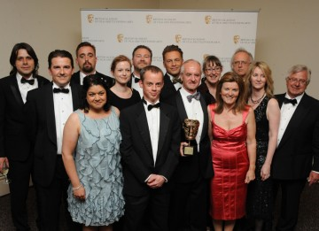 The team behind wildlife series Springwatch, which was recognised for its outstanding creative and technical teamwork both behind the camera and online. (Pic: BAFTA/Chris Sharp)