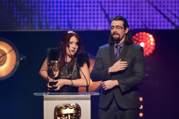 Splatoon collects the BAFTA for Game at the British Academy Children's Awards in 2015