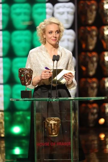 Amanda Abington presents the award for Features