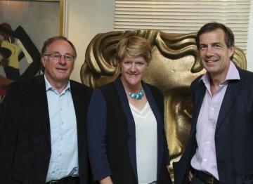 Chairman of the Academy John Willis, Clare Balding and Managing Director of Villa Maria Patrick McGrath