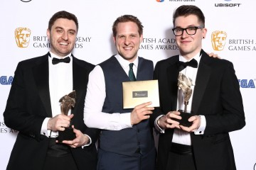 Winners of BAFTA Ones to Watch, Lukasz Gomula, Ashton Mills and Roberto Macken, for Among the Stones