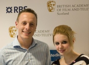 BAFTA Youth Mentoring: Craig Martin of The Prince's Trust with Hayleigh, a young beneficiary