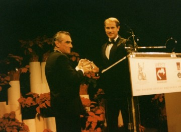 HRH Prince Edward presents Martin Scorsese with his Britannia Award.