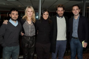 Director Juan Antonio Bayona, Naomi Watts, Producer Belén Atienza, Writer Sergio Sanchez and Moderator Nigel Smith
