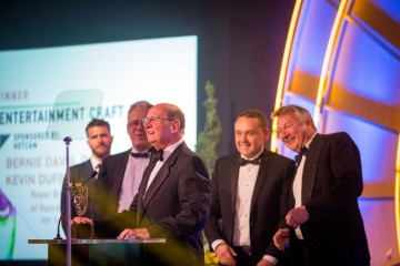 Bernie Davis, David Cole, Kevin Duff and Patrick Doherty win Entertainment Craft Team for  Royal British Legion Festival of Remembrance