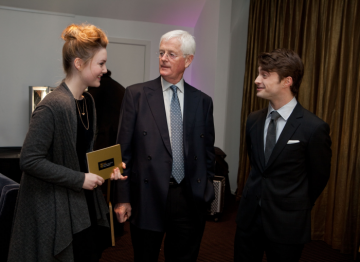 Radcliffe, Grainger and Corrie prior to the nominations announcement.