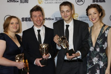 The BAFTA for Artistic Achievement was presented by actress Andrea Deck to the creators of Lumino City.