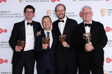 Winners of Mini Series: National Treasure L-R - George Ormond, Marc Munden, Jack Thorne and John Chapman
