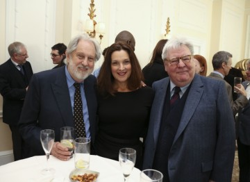 Film producers Lord Puttnam and Barbara Broccoli with Alan Parker.