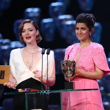Holliday Grainger and Nimrat Kaur present the award for Original Music Documentary