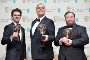 Sound - Whiplash: Craig Mann, Ben Wilkins and Thomas Curley present their BAFTAs backstage