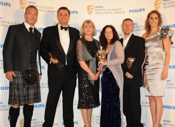 Winner of the BAFTA for Sport, BBC Two's  World Athletics Championship coverage; presented by Sir Chris Hoy and Amy Williams (BAFTA/Richard Kendal).