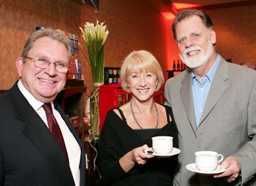 BAFTA Los Angeles Chairman Gary Dartnall with Helen Mirren and Taylor Hackford