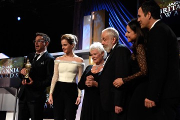 (L-R) Honorees Robert Downey Jr., Emma Watson, Dame Judi Dench, Mike Leigh, OBE, Julia Louis-Dreyfus and Mark Ruffalo