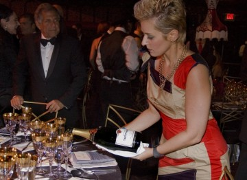 Champagne flowed thanks to BAFTA's generous partner, Champagne Taittinger.