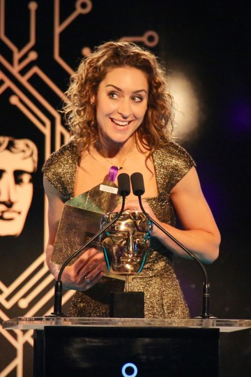 Amy Williams presents the award for Sport