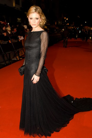 The Dorian Gray star graced the red carpet in a flowing black gown by Kate Halfpenny (BAFTA / Richard Kendal).