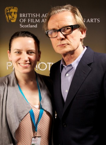 BAFTA Scotland Director, Jude MacLaverty and Bill Nighy