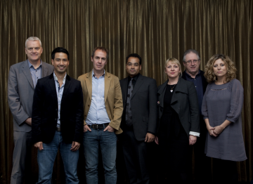 From left:Jules Stenson - Former Associate Editor, Features, News of the WorldTheo Dorizac - Lawyer, Channel 4Richard Sanders - Freelance Producer/DirectorKrishnan Guru-Murthy - JournalistKaren Edwards - Executive Producer, October FilmsSteve Boulto