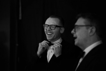 Simon Pegg & Nathan Lane get ready to present the Fellowship Award