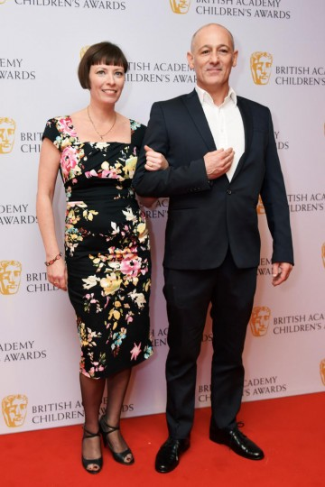 Connor Byrne and Rebecca Hartley at the BAFTA Children's Awards 2015 at the Roundhouse on 22 November 2015